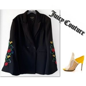 COPY - JUICY COUTURE BLACK LABEL EMBROIDERED BLAZ…